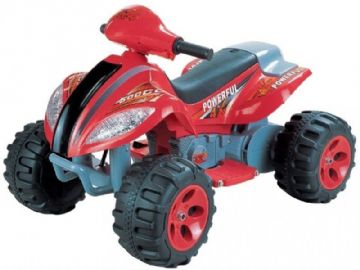 Ride On Bike Twin 6V Electric Motorised Quad Sit and Ride Toy in Red and Black